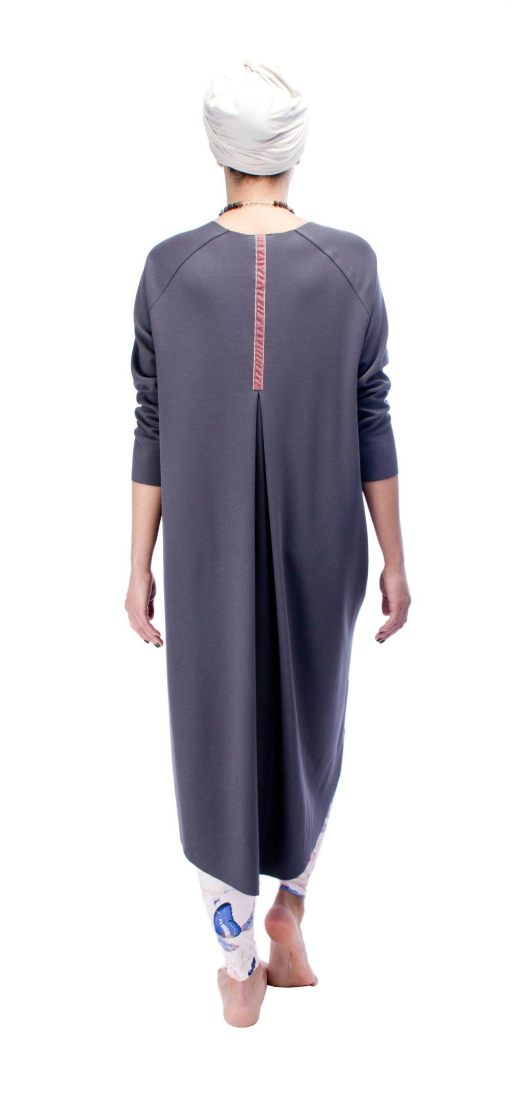 Indigo Grey Dress O/S 3
