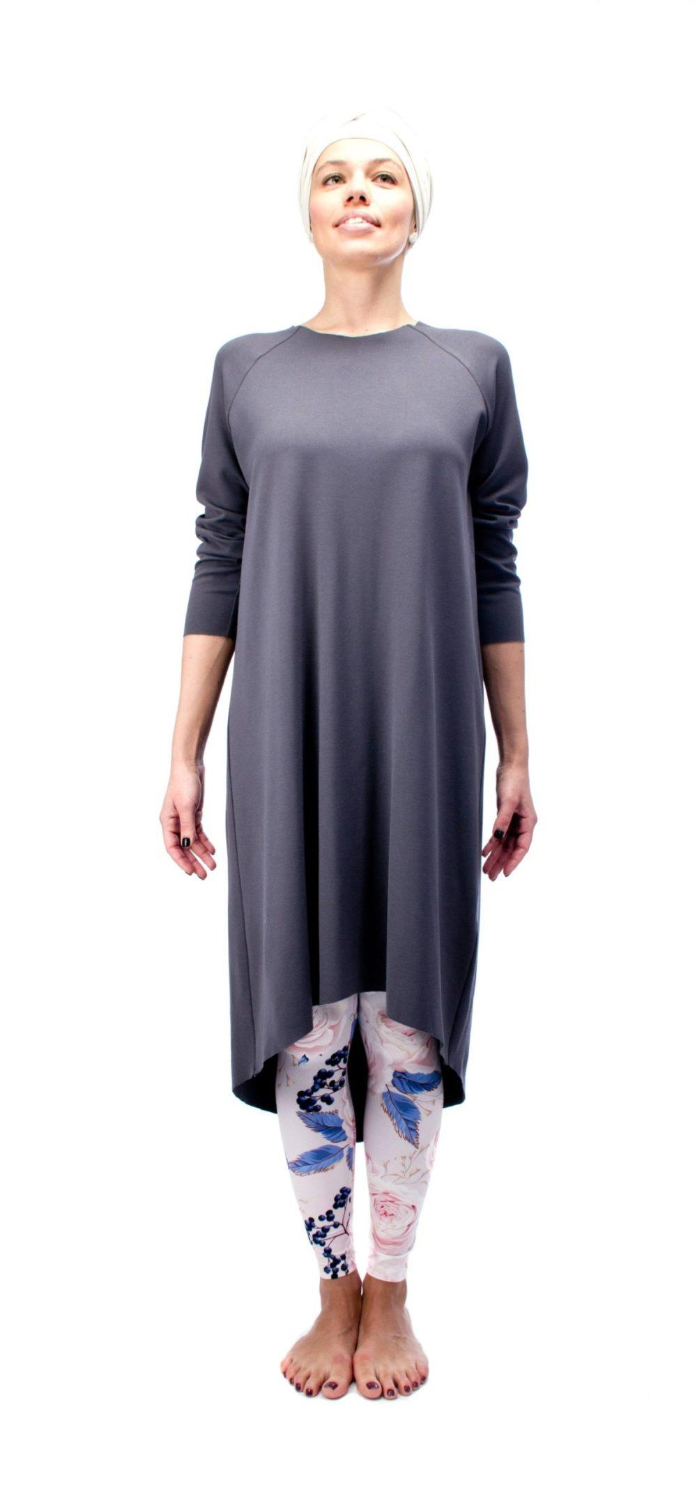 Indigo Grey Dress O/S 4