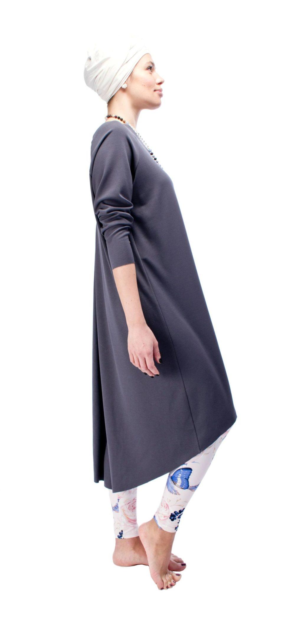 Indigo Grey Dress O/S 5