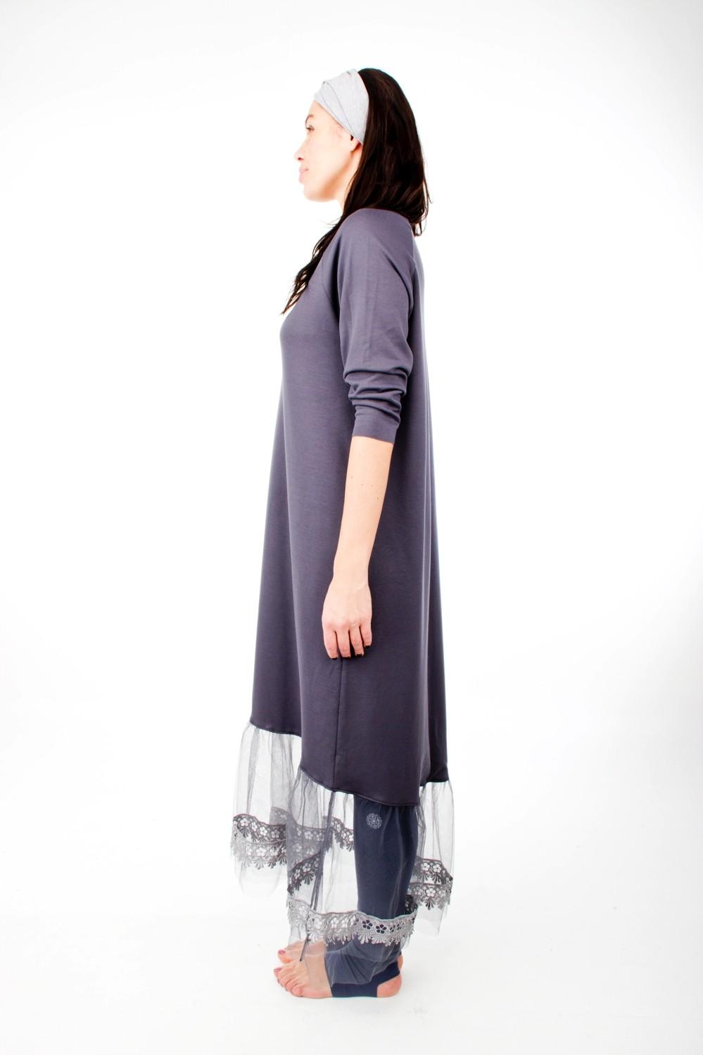 Mandala Lace Dress Indigo Grey 3