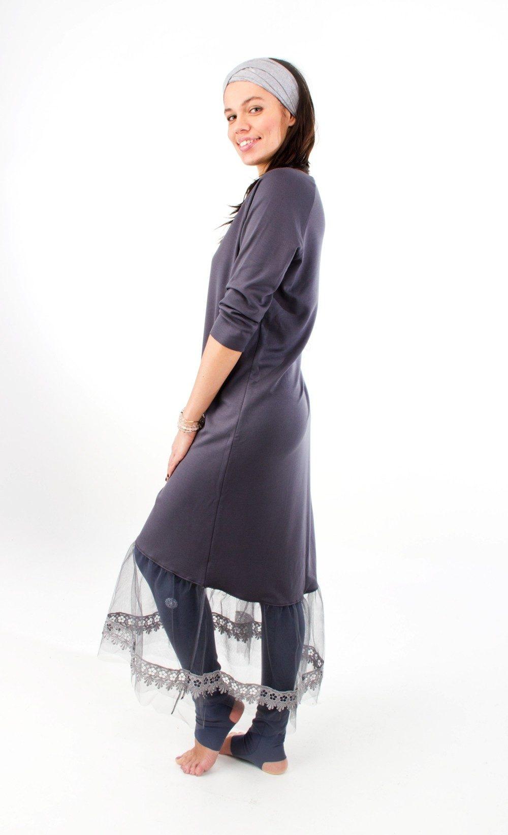 Mandala Lace Dress Indigo Grey 4
