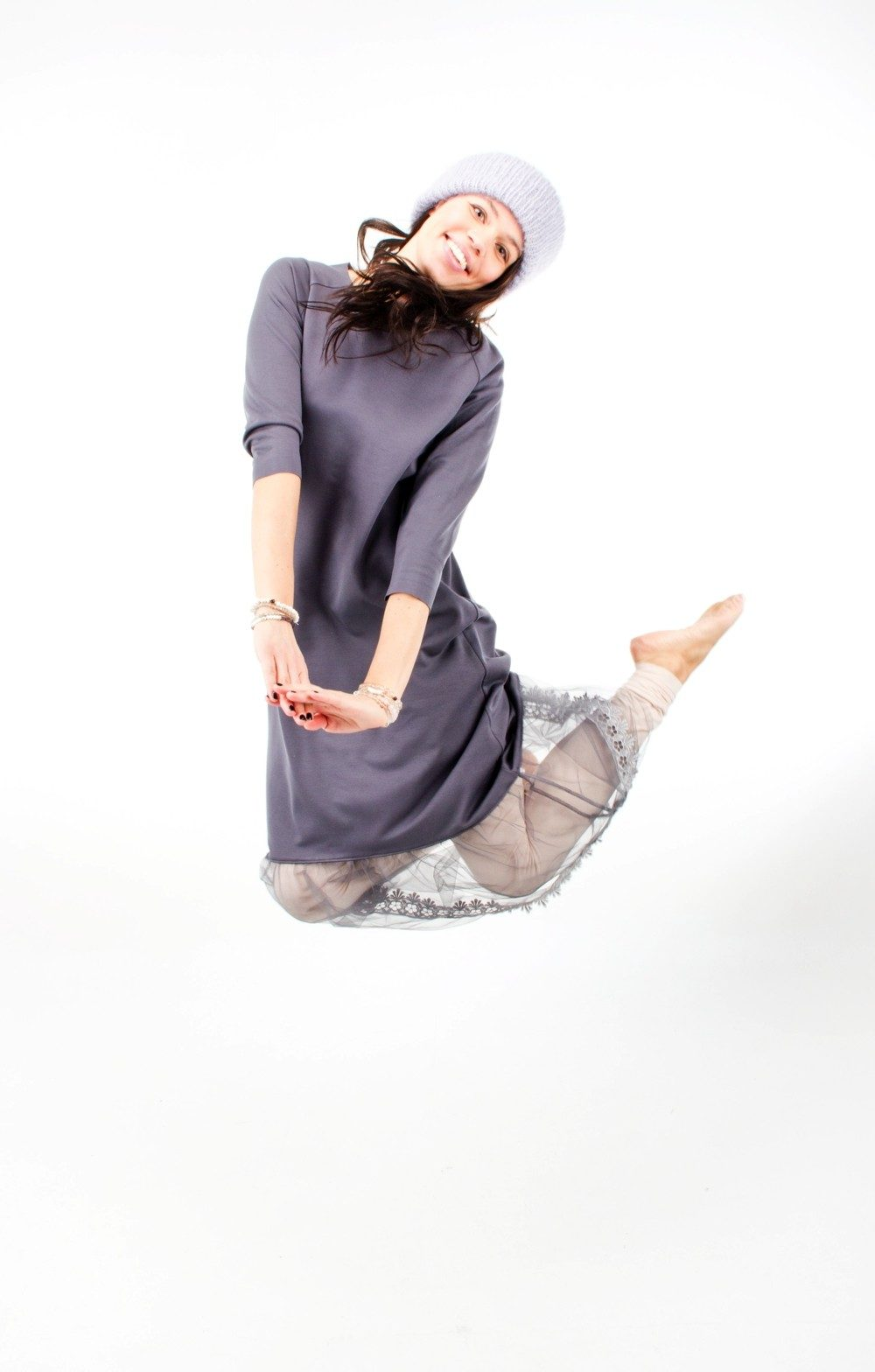 Mandala Lace Dress Indigo Grey 5
