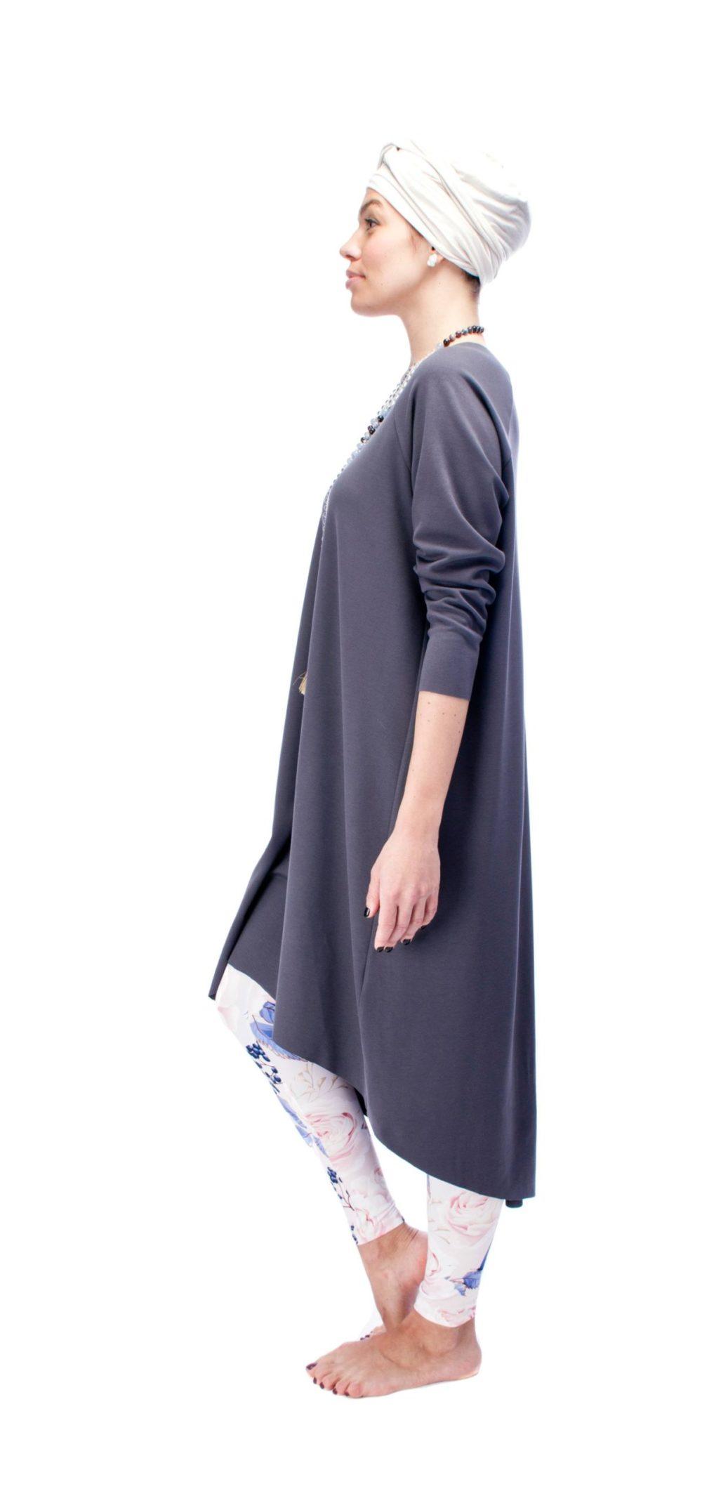 Indigo Grey Dress O/S 2