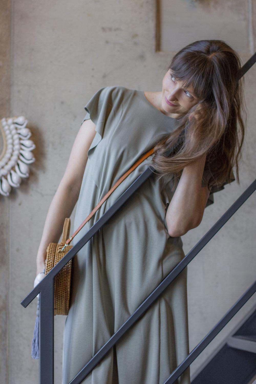 Mona Olive Dress 1