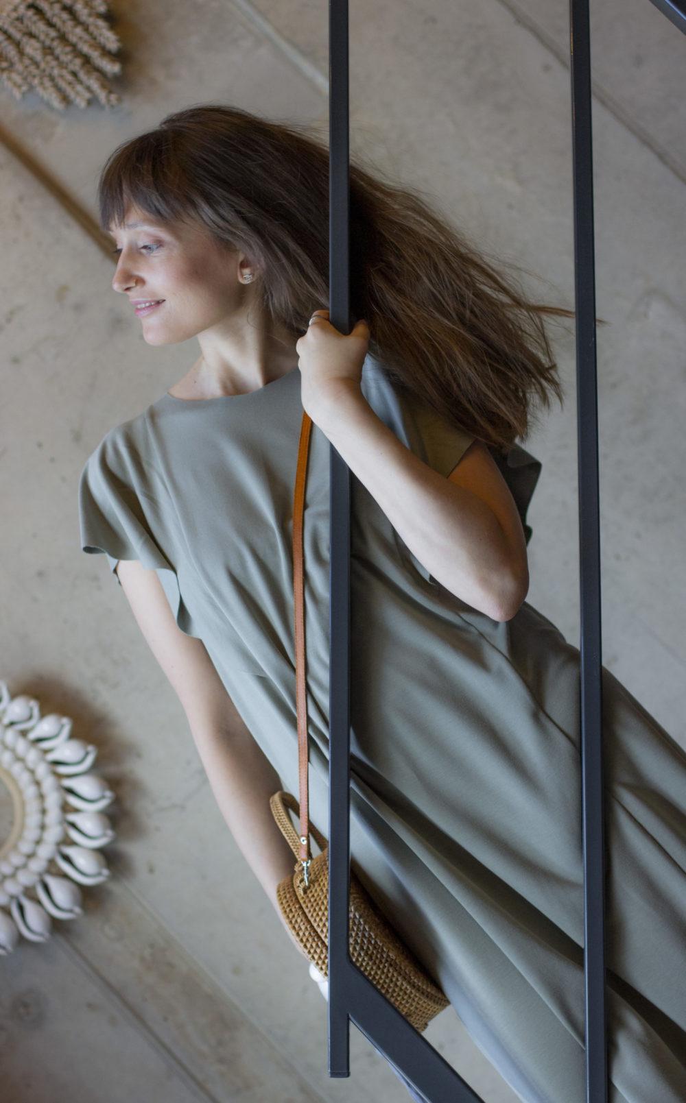 Mona Olive Dress 5