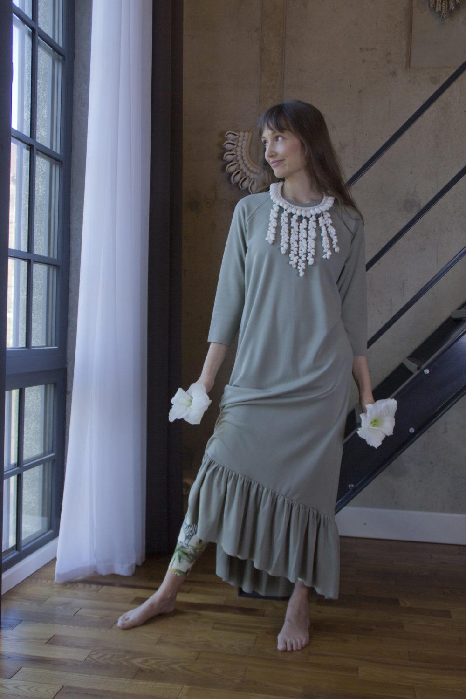 Lola Olive Dress 9
