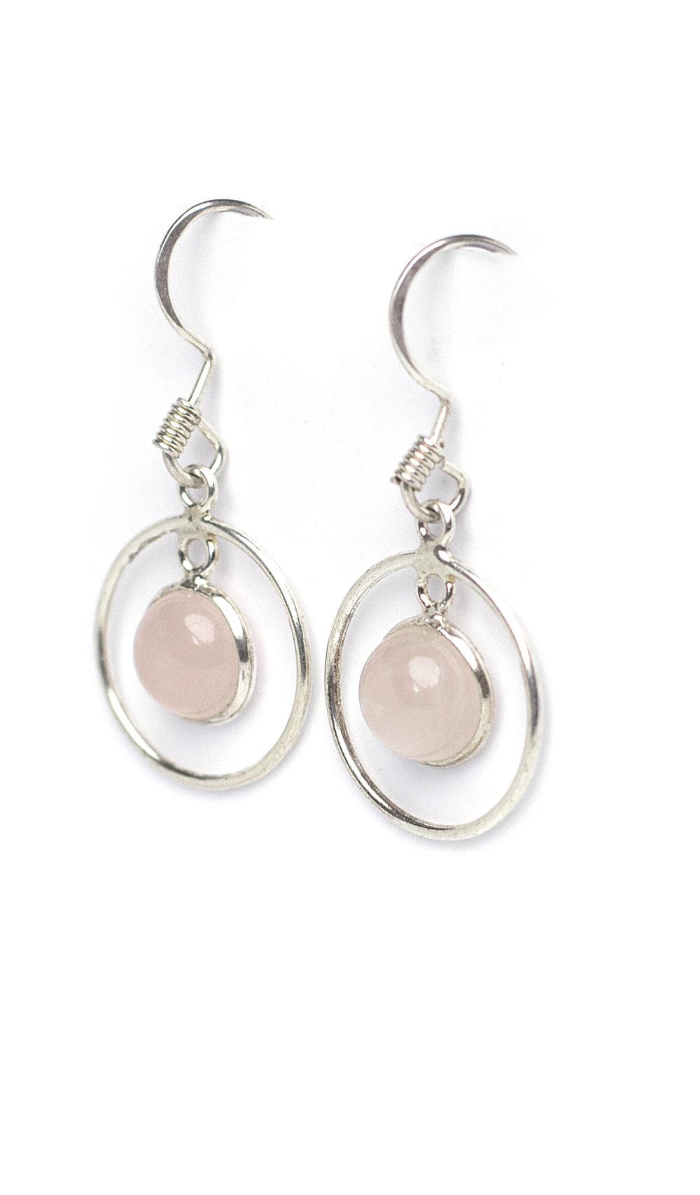 Rose Quartz Earrings 1