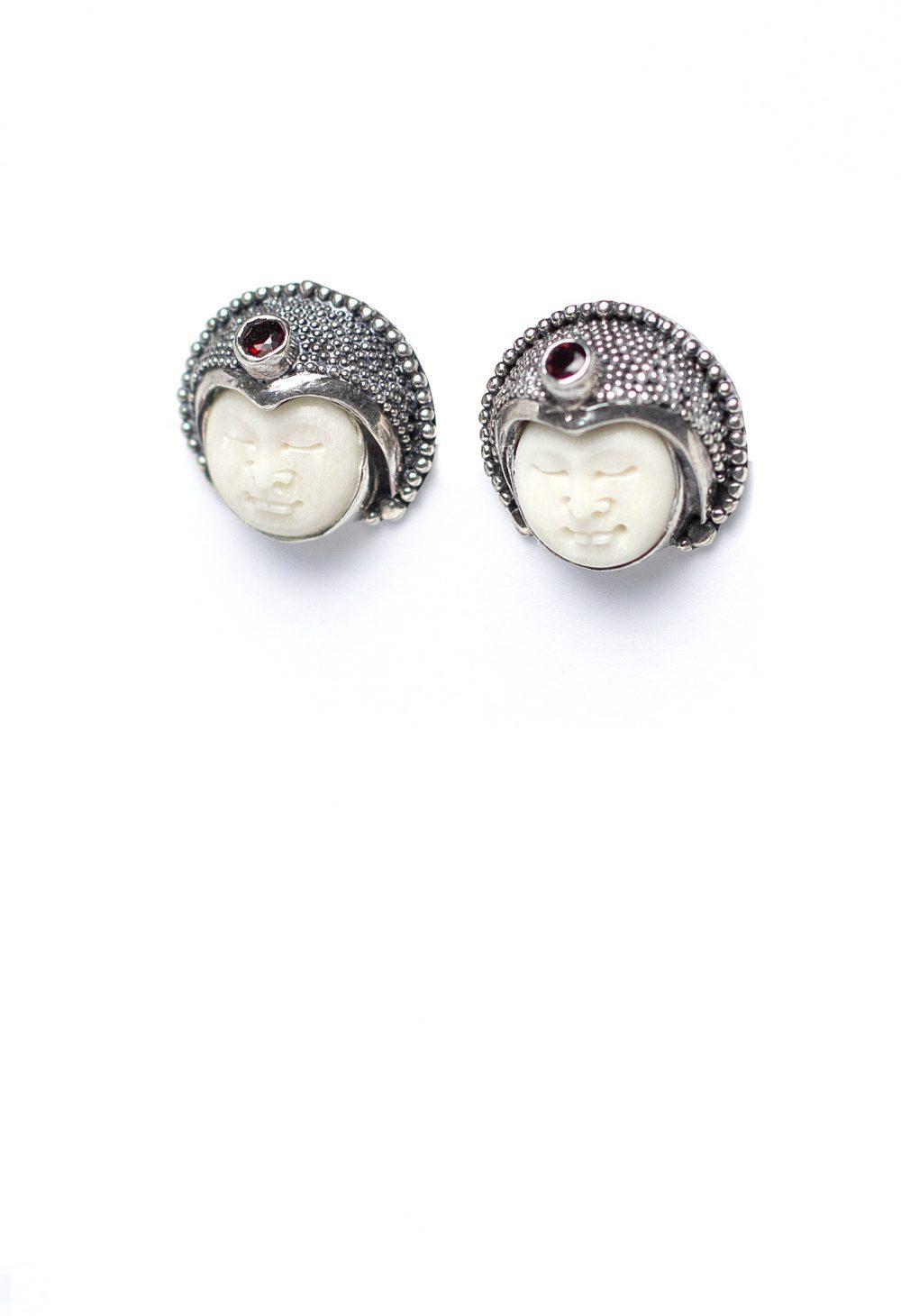 Moonface Tiny Earrings 2
