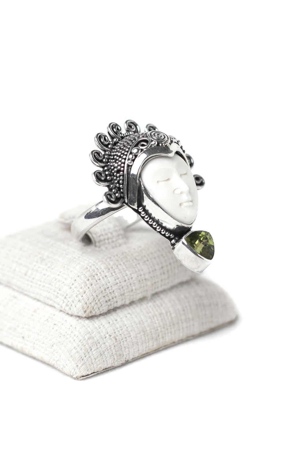 Peridot Goddess Ring 1