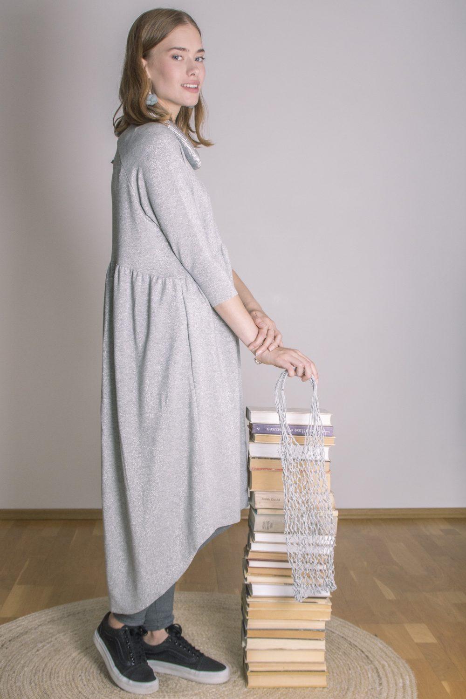 Emma Melange Silver Dress S/M 5