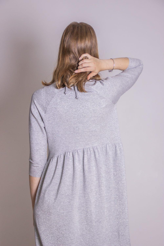 Emma Melange Silver Dress S/M 7