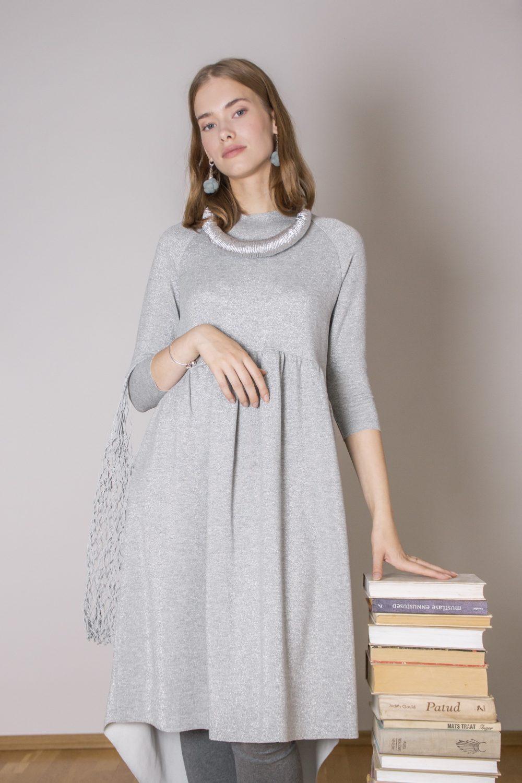 Emma Melange Silver Dress S/M 9