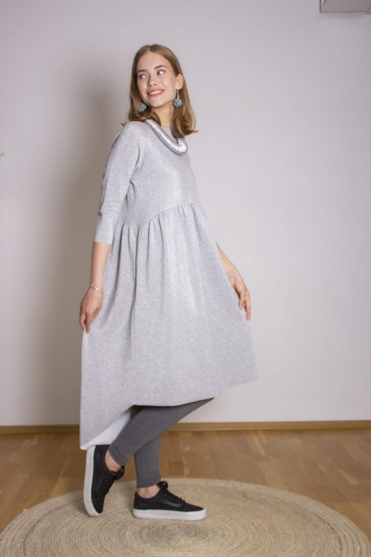 Emma Melange Silver Dress S/M 8