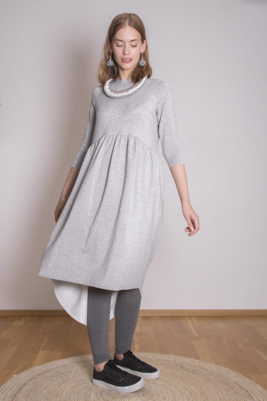 Emma Melange Silver Dress S/M 4