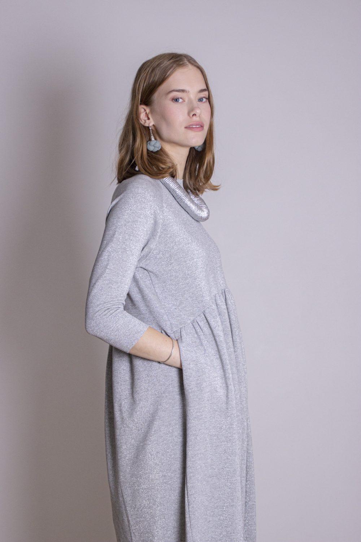 Emma Melange Silver Dress S/M 6