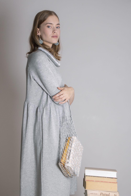 Emma Melange Silver Dress S/M 2