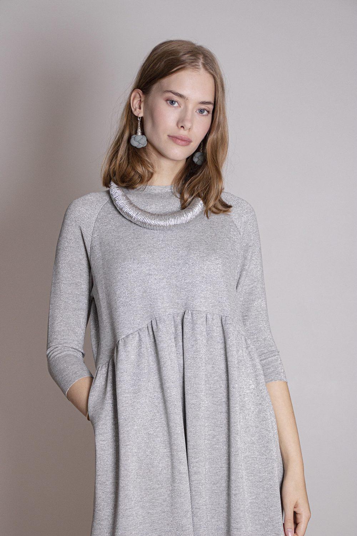 Emma Melange Silver Dress S/M 1