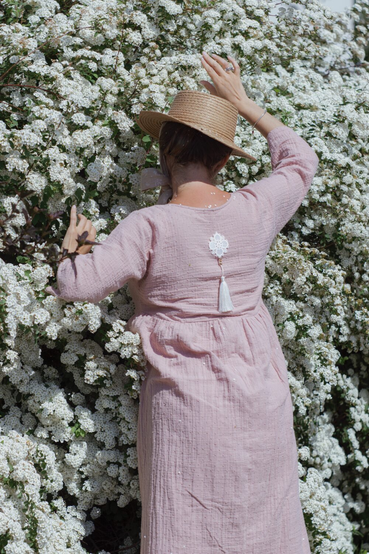 Rosé Kimono Dress 7